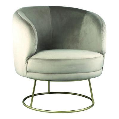 PTMD Xelena velvet fauteuil zand