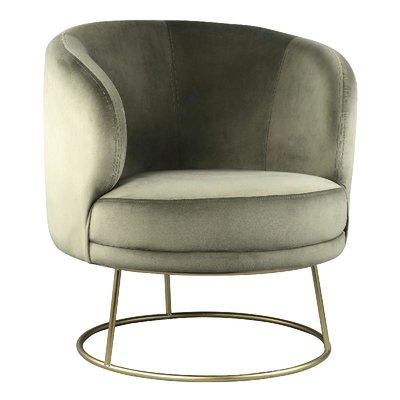 PTMD Xelena velvet fauteuil groen