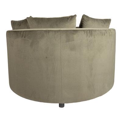 PTMD Fayen Velvet Green fauteuil half round KD