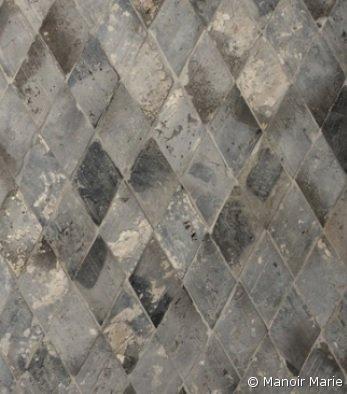 Manoir Marie - Oude terracotta diamant grijs-blauw