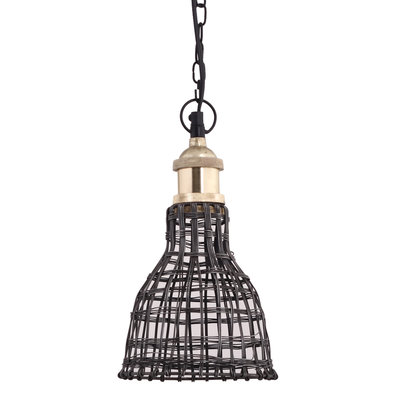 PTMD Hanglamp - Arc steel rond geweven brons staaldraad