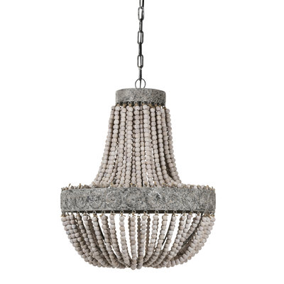 PTMD hanglamp - Beading white wood 2 layer