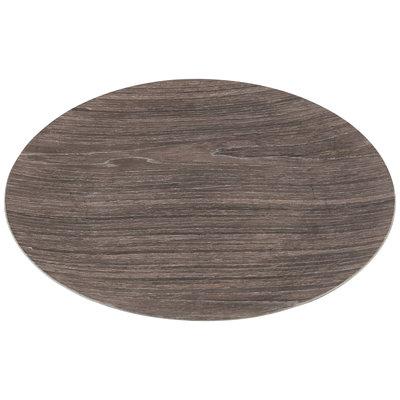 PTMD Onderbord - Wood Look grijs rond