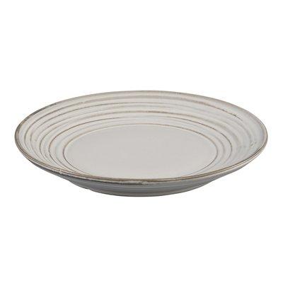 PTMD bord - Sakari white Glazed Ceramic round plate s