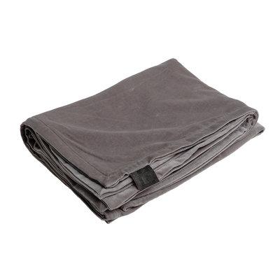 PTMD plaid - Bing light grey velvet blanket