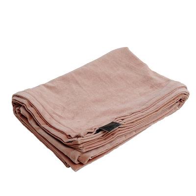 PTMD plaid - Bing soft pink velvet blanket