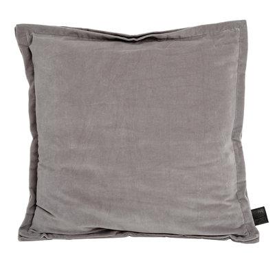PTMD kussen - Bing light grey velvet cushion & fill square