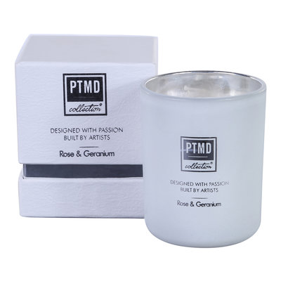 PTMD geurkaars - new candle fragrance tealight Rose & geranium S