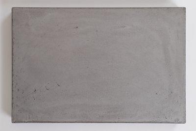 Betontafel Ardenne Rechthoek - U poot zwart staal