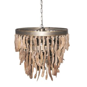 PTMD hanglamp - Branch brown wooden lamp