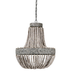 PTMD hanglamp - Beading white wood 2 layer