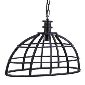 PTMD lamp - Denver grey metal hanging lamp ovale