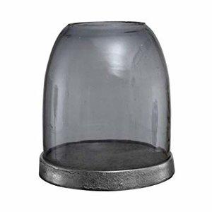 PTMD windlicht - Jake grey Glass stormlight Alu bottom round wide L